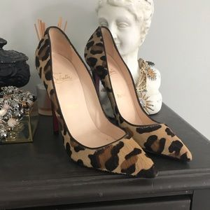 Authentic Christian Louboutin Leopard Stilletos